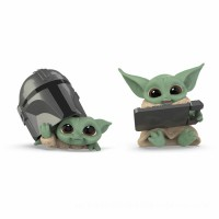 Star Wars The Bounty Collection The Child 2-Pack Helmet Peeking, Datapad Tablet Poses Figures [ Black Friday ]