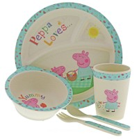 Peppa Pig Bamboo Dinner Set Toys Canada [Sale]