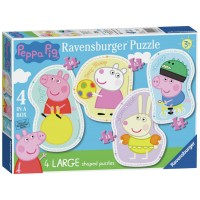 Ravensburger Peppa Pig 4 Large Shaped Jigsaw Puzzles Toys Canada [Sale]