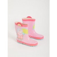 Peppa Pig Pink Rainbow Wellies - 7 Infant Toys  [ Black Friday ]