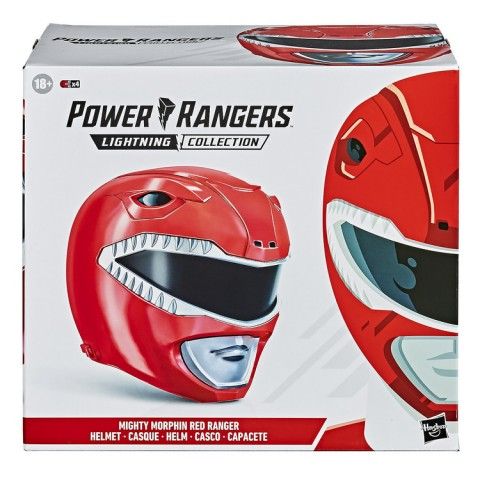 Hasbro Power Rangers Lightning Collection Mighty Morphin Red Ranger Helmet 1:1 Replica Canada [Sale]