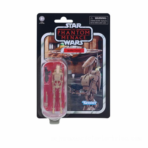 Hasbro Star Wars The Vintage Collection Battle Droid 3.75-Inch Scale Star Wars: The Phantom Menace Figure Canada [Sale]