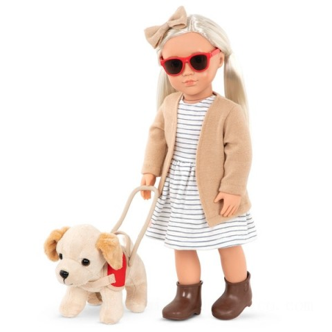 Our Generation Marlow Doll and Guide Dog doll Canada [Sale]