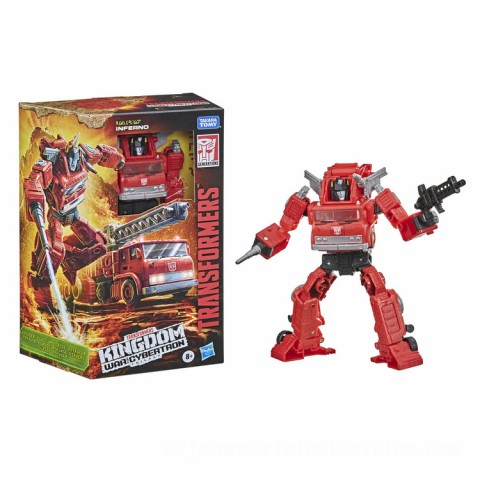 Hasbro Transformers Generations War for Cybertron: Kingdom Voyager WFC-K19 Inferno Action Figure Canada [Sale]