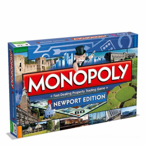 Monopoly Board Game - Newport Edition Canada [Sale]