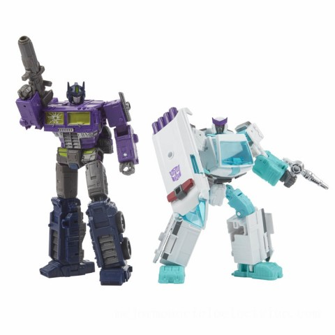 Hasbro Transformers Generations Selects Deluxe WFC-GS17 Shattered Glass Ratchet and Optimus Prime Action Figure 2 Pack Canada [Sale]