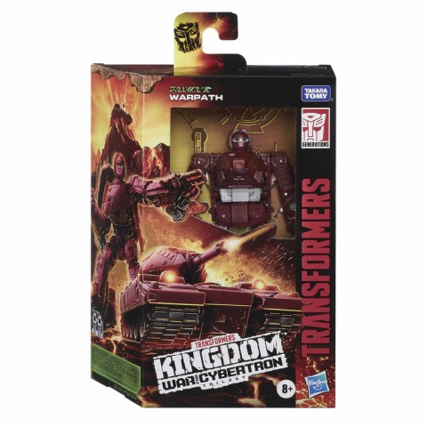 Hasbro Transformers Generations War for Cybertron: Kingdom Deluxe WFC-K6 Warpath Action Figure Canada [Sale]