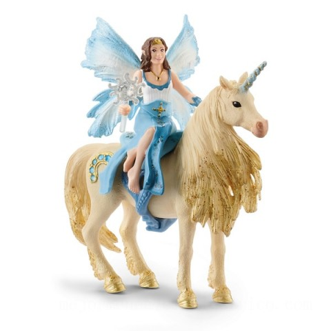 Schleich Eyela Riding On a Golden Unicorn Toys Canada 2021 [Sale]