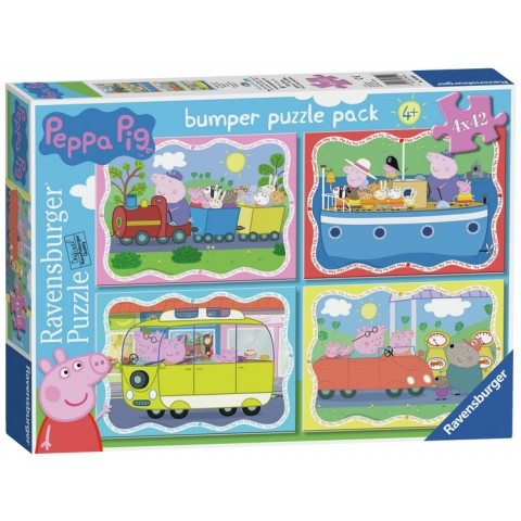 Ravensburger Peppa Pig 42 Piece Puzzle - 4 Pack Toys Canada [Sale]