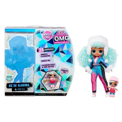 L.O.L. Surprise! O.M.G. Winter Chill Icy Gurl & Brrr B.B. Doll with 25 Surprises [ Sale ] [ Black Friday ]