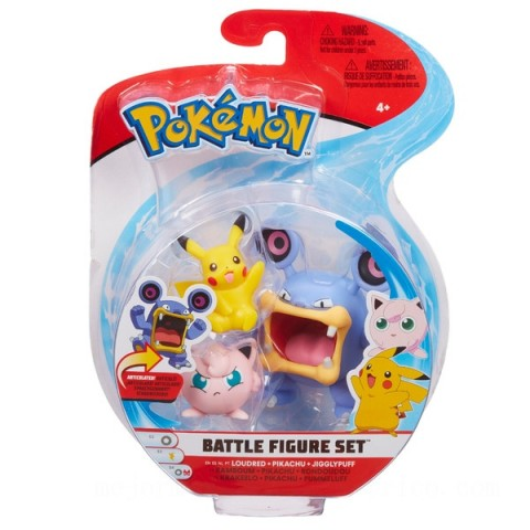 Pokemon Battle 3 Pack - Pikachu, Loudred and Jigglypuff Canada [Sale]