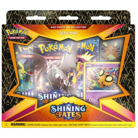 Pokémon Trading Card Game Shining Fates Mad Party Pin Collection Assortment - Styles Vary Canada [Sale]