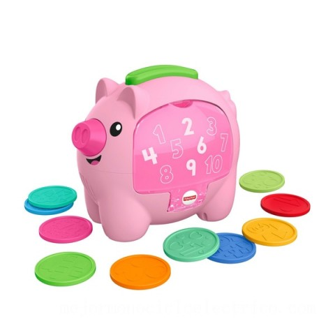 Fisher-Price Laugh & Learn Count & Rumble Piggy Bank Activity Toy Canada [Sale]