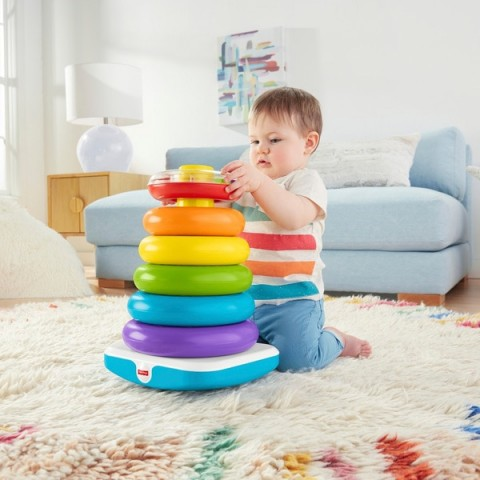 Fisher-Price Giant Rock-a-Stack Toy For Toddlers Canada [Sale]