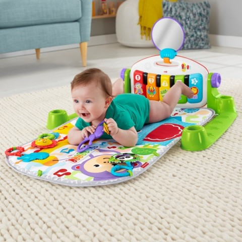 Fisher-Price Deluxe Kick & Play Piano Gym Play Mat Canada [Sale]