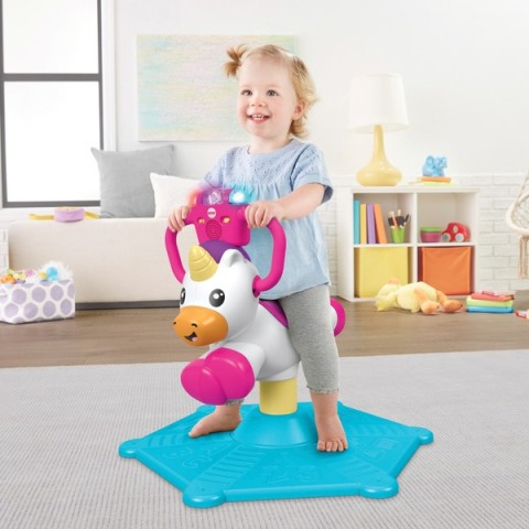 Fisher-Price Bounce and Spin Unicorn Ride On Canada [Sale]